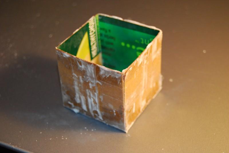Cardboard Candle Molds Wax Into a Cardboard Mold